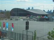 Aquatics Centre aan buitenkant gereed
